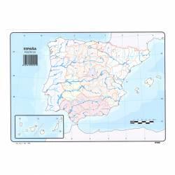 MAPA MUDO COLOR ESPAÑA POL. 501 P/50U