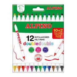 ROTULADOR ALPINO DOBLE DOBLE 10+2R