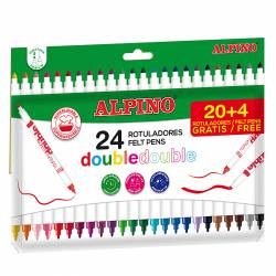 ROTULADOR ALPINO DOBLE DOBLE 20+4R