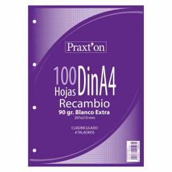 REC. BLOC A4 90G PRAXTON 100H 4T 4X4