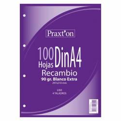 RECAMBIO A4 100H 90G PRAXTON 4T LISO