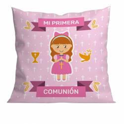 COM.: COJIN 40X40 MI PRIMERA COMUNION NIÑA YRC-0600