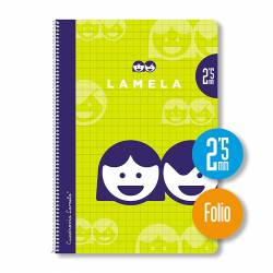 BLOC Fº 80H ESPIRAL LAMELA 2'5MM P/10U