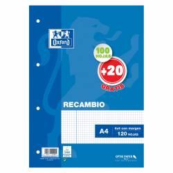 RECAMBIO OXFORD 4T A4 90G 100+20H 4X4