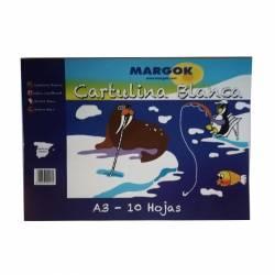 BLOC CARTULINAS A3 MARGOK BLANCA 10H P/10U