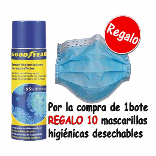 GEL SPRAY SUPERFICIES HIDROALCOHOLICO GOODYEAR 500ML