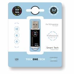 MEMORIA (++) USB 2.0 TECHONETECH 32GB NEGRA