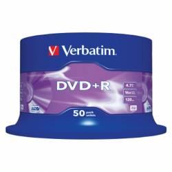 DVD+R (++) VERBATIM 16X 4.7GB TARRINA 50U