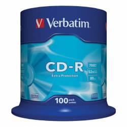 CD-R (++) VERBATIM 52X 700MB EXTRA PROT. 100U