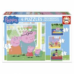 PUZZLE 6+9+12+16P EDUCA PROGR. PEPPA PIG