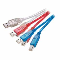 CABLE USB 2.0 A-B 1,5M COLORES