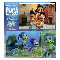 PUZZLE 2X100P EDUCA DISNEY LUCA