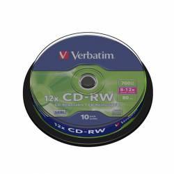 CD-RW (++) VERBATIM 12X 700MB TARRINA 10U