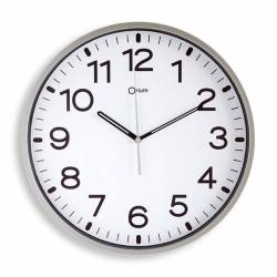 RELOJ DE PARED ANALOG. CE11679 PLATA