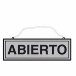 CARTEL 'ABIERTO-CERRADO' 110