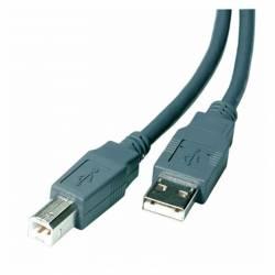 CABLE PROMOSTICK USB 2,0 A-B 1'8M GRIS