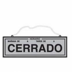 CARTEL 'HORARIO/ABIERTO-CERRADO' 109
