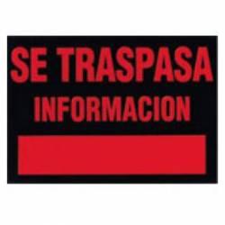 CARTEL 'SE TRASPASA' 350X250 202