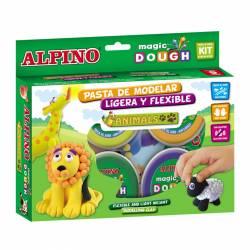 ALPINO MAGIC DOUGH 6X40G ANIMALES