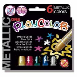 TEMPERA PLAYCOLOR METALL 6 COLORES
