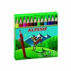 LAPIZ COLOR ALPINO 652/12 CORTO C/12U
