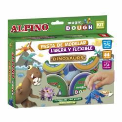 ALPINO MAGIC DOUGH 6X40G DINOSAURIOS