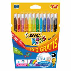 ROTULADOR BIC KID COLOR 10+2 COLORES 1UD