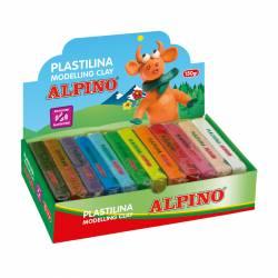 PLASTILINA ALPINO 150GR. SURTIDA C/12U