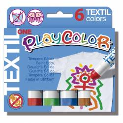 TEMPERA PLAYCOLOR TEXTIL 6 COLORES