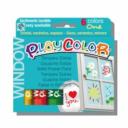 TEMPERA PLAYCOLOR WINDOW 6 COLORES